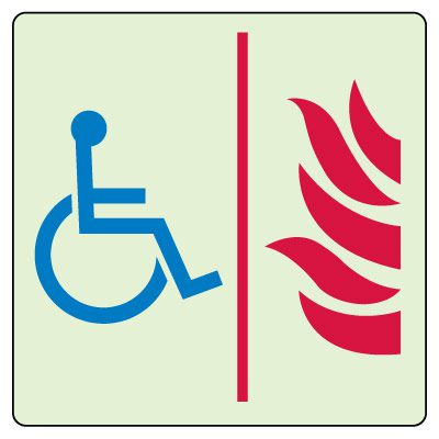 Accessible Area of Refuge Symbol Sign