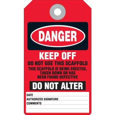 Danger Keep Off Accident Prevention Tag