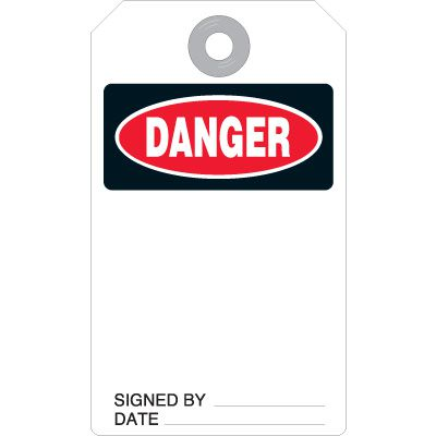 Danger Accident Prevention Tag