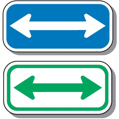 Add-On Handicap Parking Signs - Double Arrow