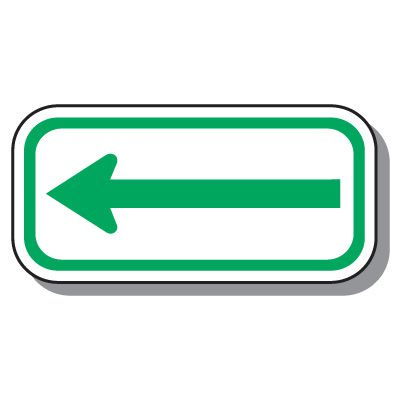 Add-On Handicap Parking Signs - Left Arrow