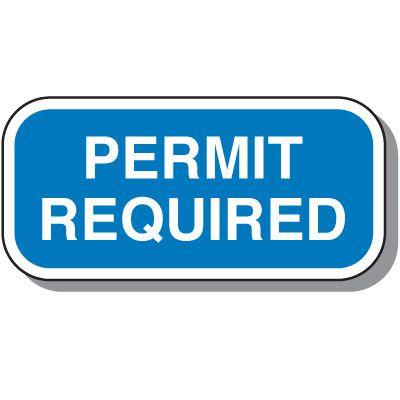 Add-On Handicap Parking Signs - Permit Required