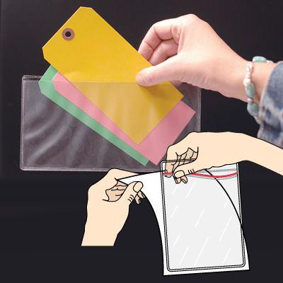 Adhesive-Backed Zip-Lock Holders