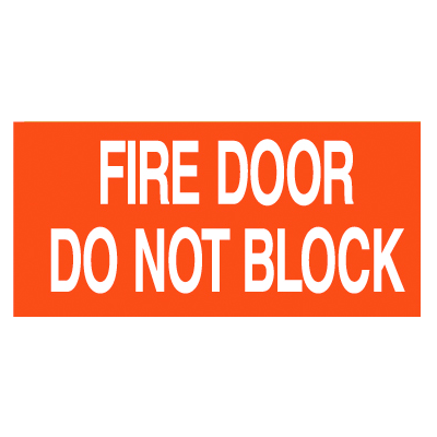This Door Must Remain Unlocked When Building Is Occupied Self-Adhesive Vinyl Door Signs