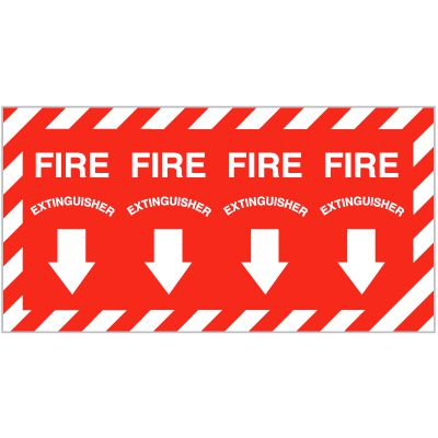 Fire Extinguisher Self-Adhesive Vinyl Fire Equipment Signs