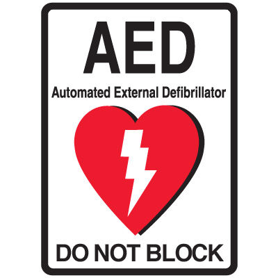 1-Way View AED Sign - Do Not Block
