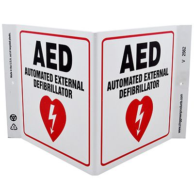 AED V-Style Sign