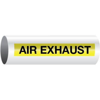 Air Exhaust - Opti-Code™ Self-Adhesive Pipe Markers