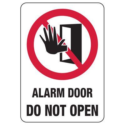 Alarm Signs - Alarm Door