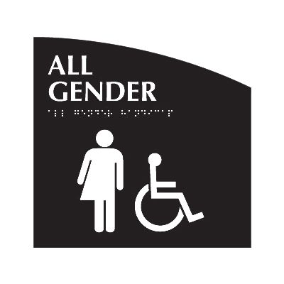 All Gender (Accessibility) - Evolution Restroom Signs