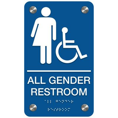 All Gender Restroom (Accessibility) - Premium ADA Restroom Signs