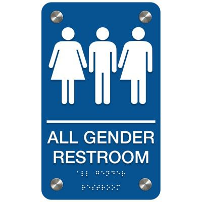 All Gender Restroom - Premium ADA Restroom Signs