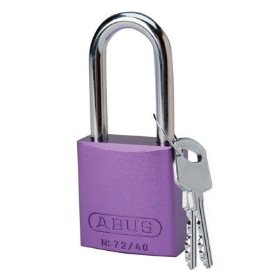 Brady Keyed Different Aluminum One and Half Inch Shackle Locks - Purple - Part Number - 104576 - 1/Each