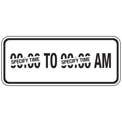 AM Parking Hours - Semi-Custom School Parking Signs