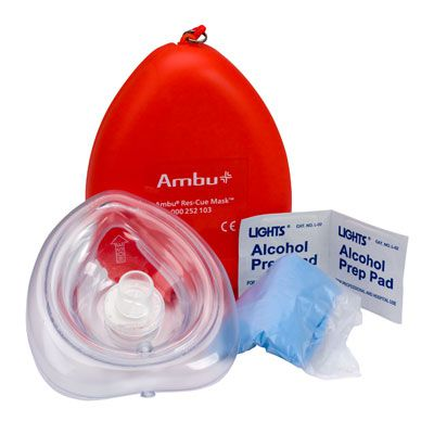 First Aid Only Ambu® Res-cue CPR Mask Kit M573-AMBU
