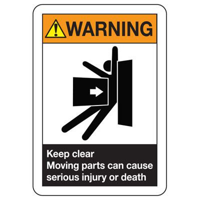 ANSI Safety Signs - Warning Keep Clear