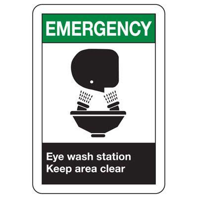 ANSI Eyewash Signs - Emergency Eye Wash Station