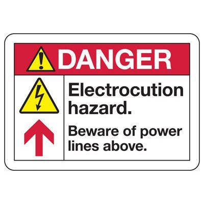 ANSI Z535 Safety Signs - Danger Electrocution Hazard