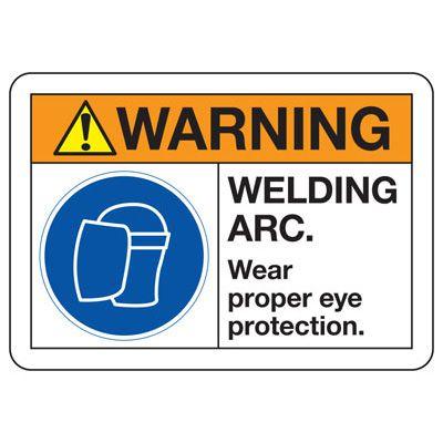 ANSI Z535 Safety Signs - Warning Welding Arc