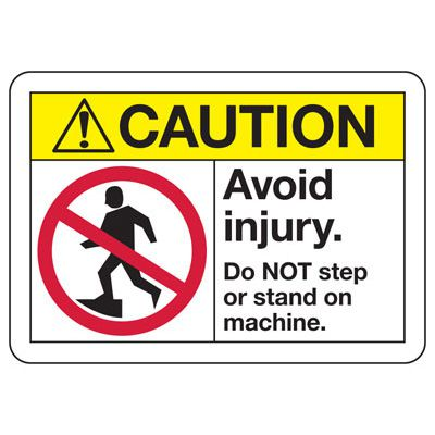ANSI Z535 Safety Signs - Caution Avoid Injury