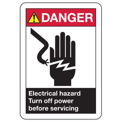 ANSI Z535 Safety Signs - Danger Turn Off Power