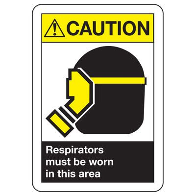ANSI Z535.2-2011 Safety Signs - Caution Resipirators Must Be Worn
