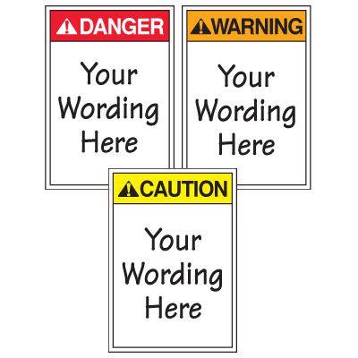 Custom Worded ANSI Warning Labels