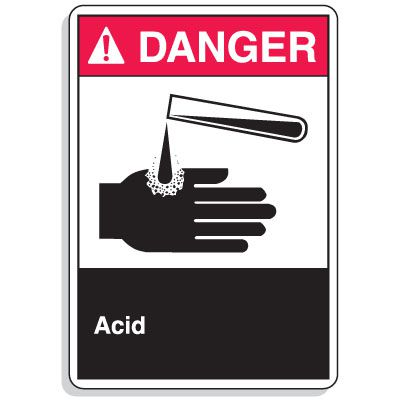 ANSI Z535.2-2011 Safety Signs - Danger Acid