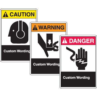 Custom ANSI Z535 Safety Labels