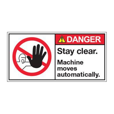 ANSI Z535 Safety Labels - Danger Stay Clear