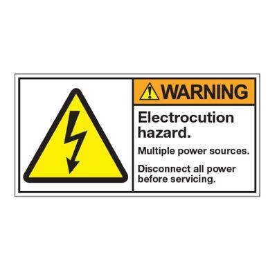ANSI Z535 Safety Labels - Electrocution Hazard