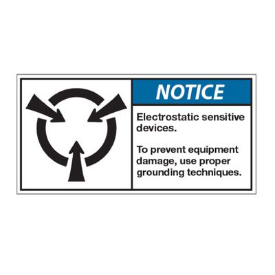 ANSI Z535 Safety Labels - Electrostatic Sensitive Devices