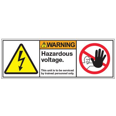 ANSI Z535 Safety Labels - Hazardous Voltage