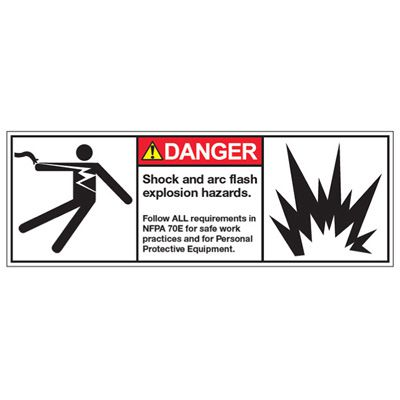 ANSI Z535 Safety Labels - Shock and Arc Flash Hazards