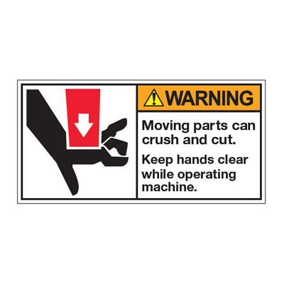 ANSI Z535 Safety Labels - Warning Keep Hands Clear