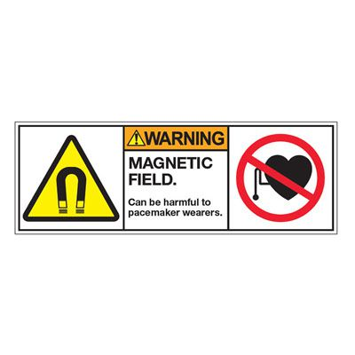 ANSI Z535 Safety Labels - Warning Magnetic Field