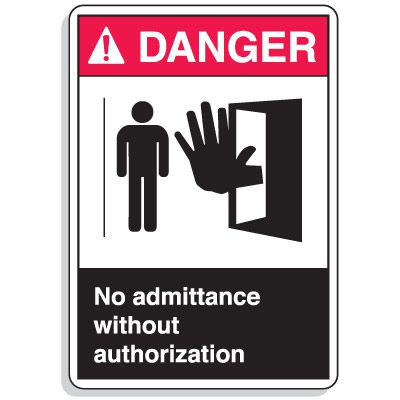 ANSI Z535 Safety Signs - Danger No Admittance