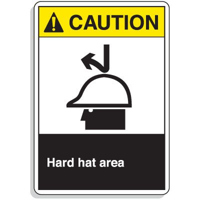 ANSI Z535 Safety Signs - Hard Hat Area