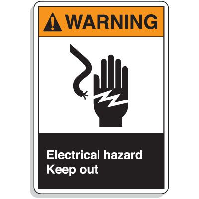 ANSI Z535 Safety Signs - Warning Electrical Hazard