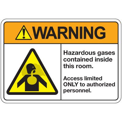 ANSI Z535 Safety Signs - Warning Hazardous Gases