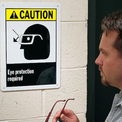 ANSI Z535.2-2011 Safety Signs - Caution Eye Protection Required