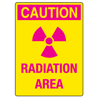 Anti-Microbial Signs - Caution Radiation Area