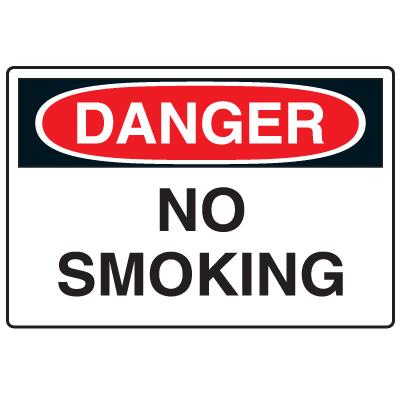 Anti-Microbial Signs - Danger No Smoking