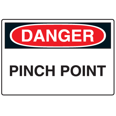 Anti-Microbial Signs - Danger Pinch Point