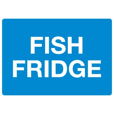 Anti-Microbial Signs - Fish Fridge