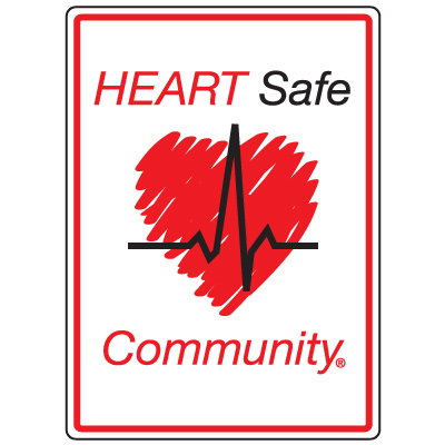 Anti-Microbial Signs - Heart Safe Community