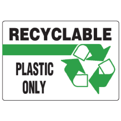 Anti-Microbial Signs - Recyclable Plastic Only