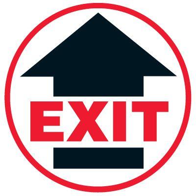 Anti-Slip Floor Markers - Exit