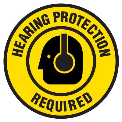 Anti-Slip Floor Markers - Hearing Protection Required