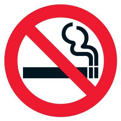 Anti-Slip Floor Markers - No Smoking Symbol